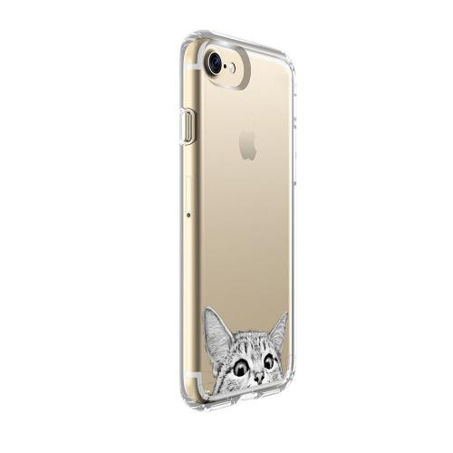 Made for Apple iPhone 8 / 7 / 6S / 6 TPU Case, [Tabby Kitty Cat] Slim Flexible Anti-shock Crystal Silicone Protective TPU Gel Skin Case Cover by Redshield