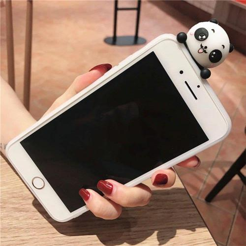 [REDshield] Apple iPhone 8 / 7 3D TPU Case, [Panda Bears Hanging w/ Laundry] Slim & Flexible Anti-shock Crystal Silicone Protective TPU Gel Skin Case Cover