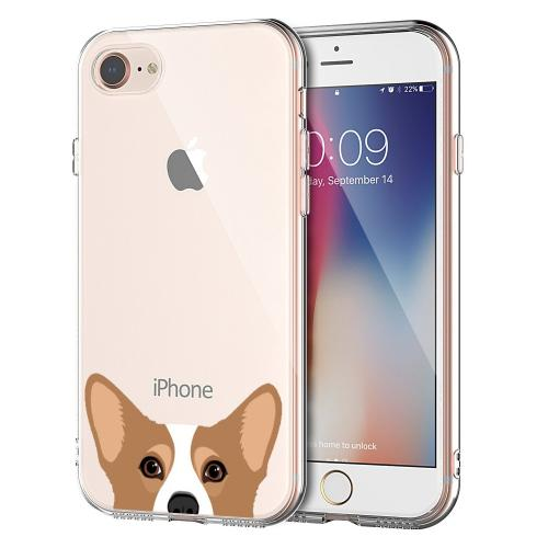 [REDshield] Apple iPhone 8/ iPhone 7 TPU Case, [Corgi] Slim & Flexible Anti-shock Crystal Silicone Protective TPU Gel Skin Case Cover