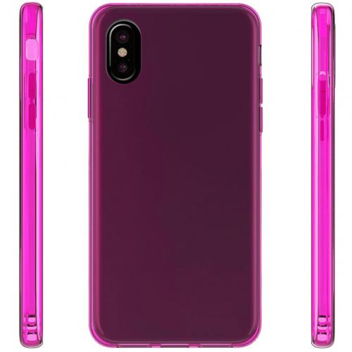 Made for [Apple iPhone X / XS 2018] TPU Case, Slim Flexible Anti-shock Crystal Silicone Protective TPU Gel Skin Case [Hot Pink] by Redshield