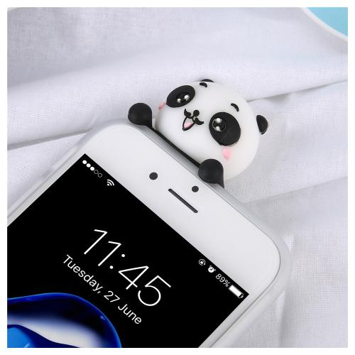 Made for Apple iPhone 8 Plus / 7 Plus 3D TPU Case, [Panda Bears Hanging w/ Laundry] Slim Flexible Anti-shock Crystal Silicone Protective TPU Gel Skin Case Cover by Redshield