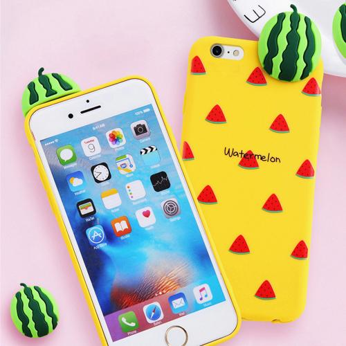 [REDshield] Apple iPhone 8 Plus / 7 Plus / 6S Plus / 6 Plus 3D TPU Case, [Watermelon on Yellow] Slim & Flexible Anti-shock Crystal Silicone Protective TPU Gel Skin Case Cover