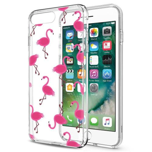 Made for Apple iPhone 8 / 7 TPU Case, [Pink Flamingos] Slim Flexible Anti-shock Crystal Silicone Protective TPU Gel Skin Case Cover by Redshield