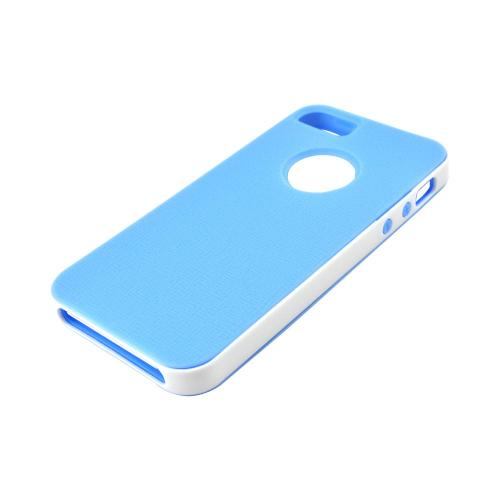 Made for Apple iPhone SE / 5 / 5S  Case,  [Sky Blue/ White]  Slim Flexible Anti-shock Crystal Silicone Protective TPU Gel Skin Case Cover w/ Bumper by Redshield