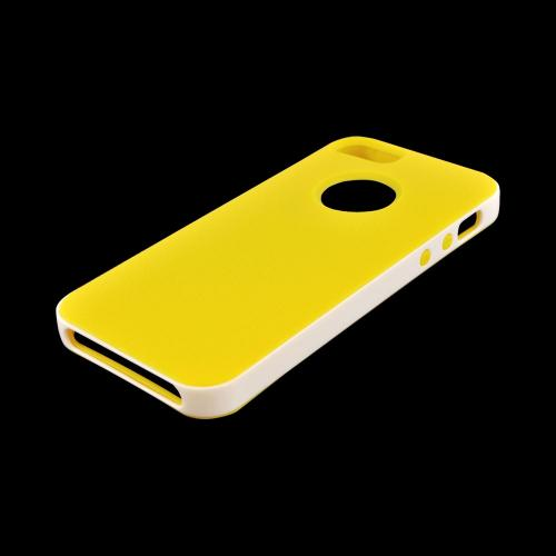 Made for Apple iPhone SE / 5 / 5S  Case,  [Yellow/ White]  Slim Flexible Anti-shock Crystal Silicone Protective TPU Gel Skin Case Cover w/ Bumper by Redshield