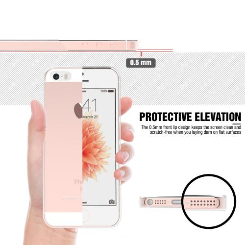 Apple iPhone SE/5/5S Case, REDshield [Clear] Slim & Flexible Anti-shock Crystal Silicone Protective TPU Gel Skin Case Cover
