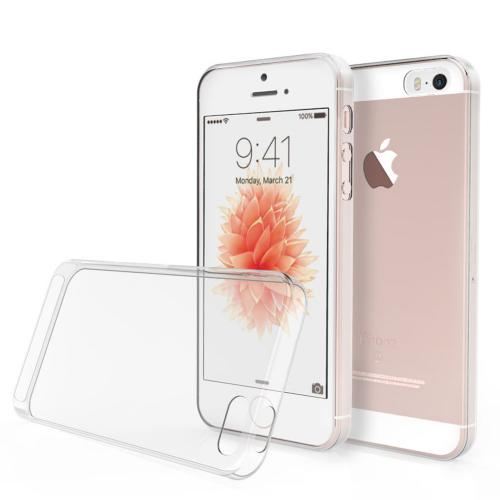 Made for Apple iPhone SE/5/5S Case, [Clear] Slim Flexible Anti-shock Crystal Silicone Protective TPU Gel Skin Case Cover by Redshield