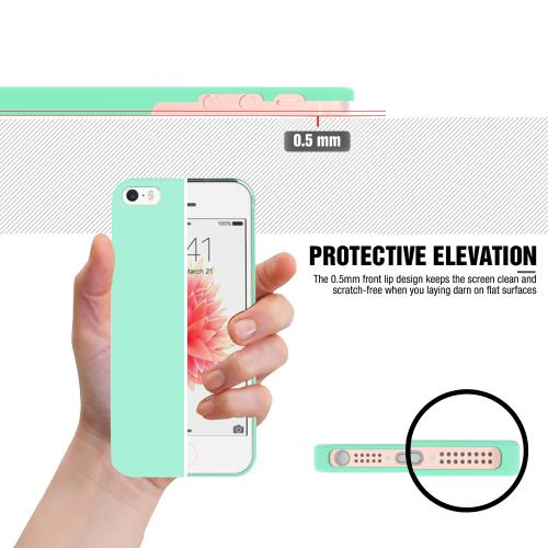 Made for Apple iPhone SE/5/5S Case,  [Mint]  Slim Flexible Anti-shock Crystal Silicone Protective TPU Gel Skin Case Cover w/ Free Screen Protector by Redshield