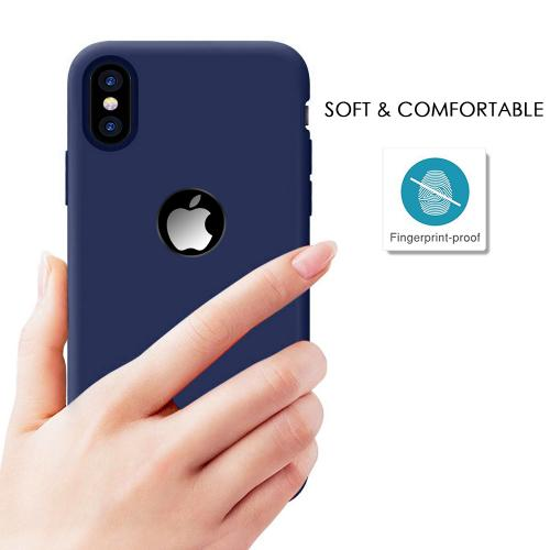 Made for [Apple iPhone X / XS 2018] TPU Case, Slim Flexible Anti-shock Crystal Silicone Protective TPU Gel Skin Case [NAVY BLUE] by Redshield