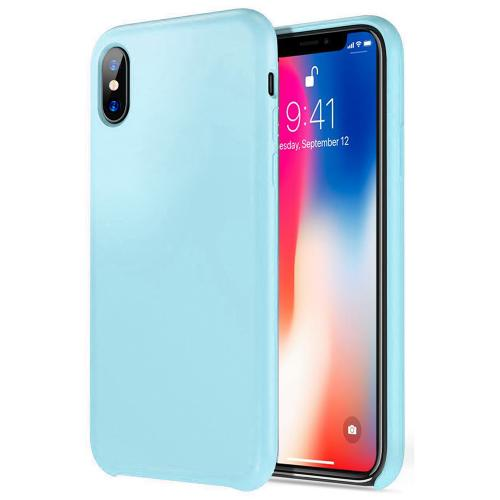 [Apple iPhone X] [Simple Series] TPU Case, Slim & Flexible Anti-shock Crystal Silicone Protective TPU Gel Skin Case [TEAL]