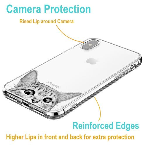 Made for [Apple iPhone X / XS 2018] TPU Case, [Tabby Cat] Slim Flexible Anti-shock Crystal Silicone Protective TPU Gel Skin Case Cover by Redshield