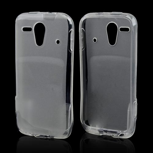 Clear/ Frost Crystal Silicone Skin Case for Kyocera Hydro Edge