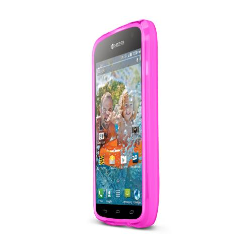 Hot Pink Kyocera Hydro Vibe Flexible Crystal Silicone TPU Case - Conforms To Your Phone Without Stretching Out!