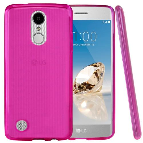 LG Aristo/ Fortune Case, REDshield Slim & Flexible Anti-shock Crystal Silicone TPU Skin Protective Cover [Hot Pink]