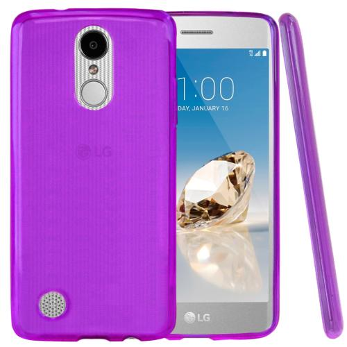 LG Aristo/ Fortune Case, REDshield Slim & Flexible Anti-shock Crystal Silicone TPU Skin Protective Cover [Purple]