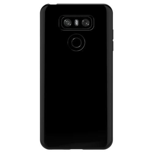 LG G6 TPU Case, Slim & Flexible Anti-shock Crystal Silicone Protective TPU Gel Skin Case Cover [Black] with Travel Wallet Phone Stand