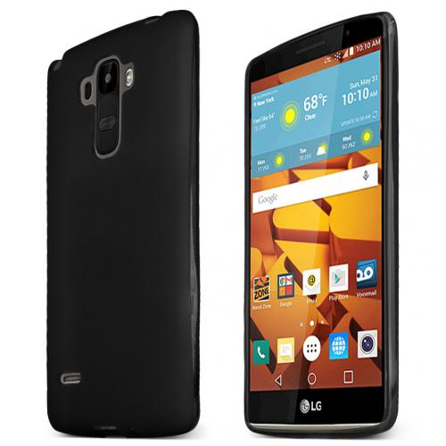 LG G Stylo Case, [BLACK] Slim & Flexible Anti-shock Crystal Silicone Protective TPU Gel Skin Case Cover