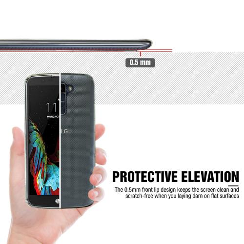 LG K10 Case, REDshield [Black] Slim & Flexible Anti-shock Crystal Silicone Protective TPU Gel Skin Case Cover