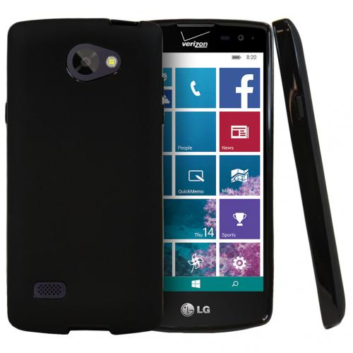 LG Lancet Case, [Black] Slim & Flexible Crystal Silicone TPU Protective Case