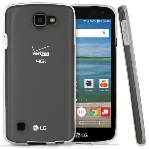 LG Optimus Zone 3 Case, REDShield [Frost Clear] Slim & Flexible Anti-shock Crystal Silicone Protective TPU Gel Skin Case Cover