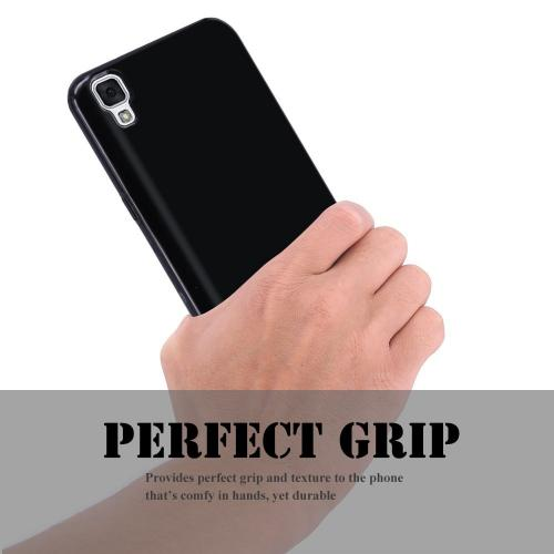 LG Tribute HD TPU Case, REDshield [Black] Slim & Flexible Anti-shock Crystal Silicone Protective TPU Gel Skin Case Cover