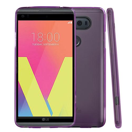 LG V20 TPU Case, REDshield [Purple] Slim & Flexible Anti-shock Crystal Silicone Protective TPU Gel Skin Case Cover with Travel Wallet Phone Stand