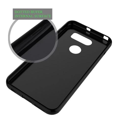 LG V30 TPU Case, [Black] Slim & Flexible Anti-shock Crystal Silicone Protective TPU Gel Skin Case