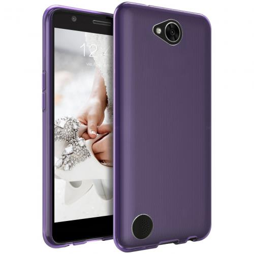 LG X Calibur Case, [REDshield] Slim & Flexible Anti-shock Crystal Silicone Protective TPU Gel Skin Case Cover [Purple] Travel Wallet Phone Stand