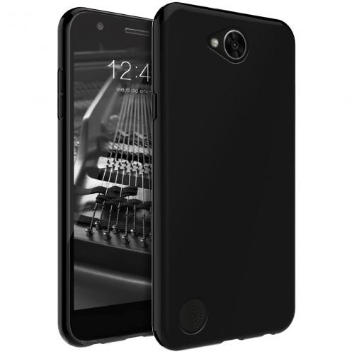 LG X Power 2/ X Charge Case, [REDshield] Slim & Flexible Anti-shock Crystal Silicone Protective TPU Gel Skin Case Cover [Black] with Travel Wallet Phone Stand