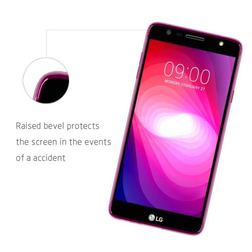 LG X Power 2/ X Charge Case, [REDshield] Slim & Flexible Anti-shock Crystal Silicone Protective TPU Gel Skin Case Cover [Hot Pink] with Travel Wallet Phone Stand