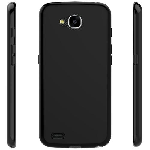 LG X Venture TPU Case, [REDshield] Slim & Flexible Anti-shock Crystal Silicone Protective TPU Gel Skin Case Cover [Black] with Travel Wallet Phone Stand