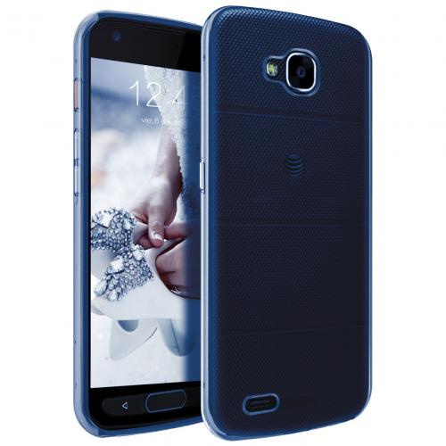LG X Venture TPU Case, [REDshield] Slim & Flexible Anti-shock Crystal Silicone Protective TPU Gel Skin Case Cover [Blue]  with Travel Wallet Phone Stand