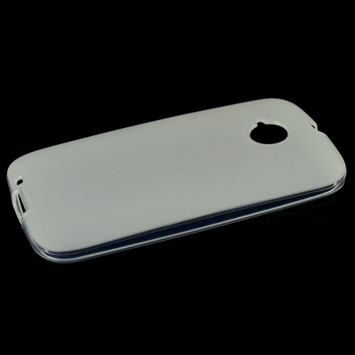 Frost White Motorola Moto E (2nd Gen.) Flexible Crystal Silicone TPU Case - Conforms To Your Phone Without Stretching Out!