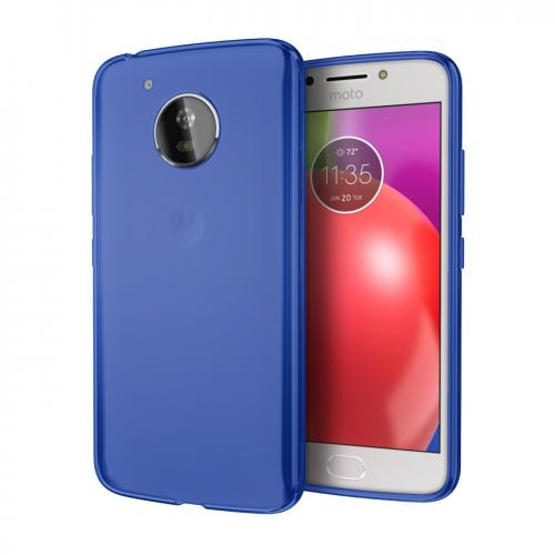 [REDshield] Motorola Moto E4 PLUS Case, [Blue] Slim & Flexible Anti-shock Crystal Silicone Protective TPU Gel Skin Case Cover