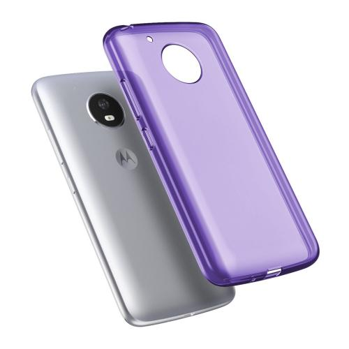 [REDshield] Motorola Moto E4 PLUS Case, [Purple] Slim & Flexible Anti-shock Crystal Silicone Protective TPU Gel Skin Case Cover