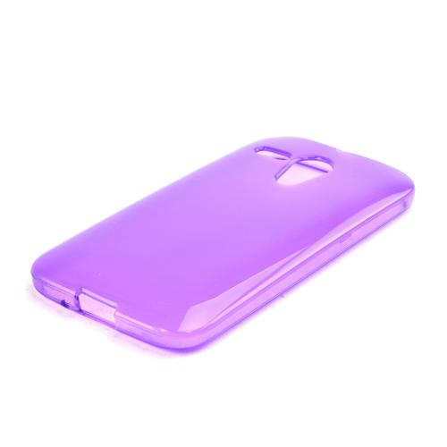 Purple Crystal Silicone Skin Case for Motorola Moto G