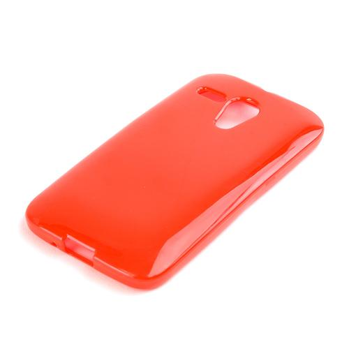 Red Crystal Silicone Skin Case for Motorola Moto G