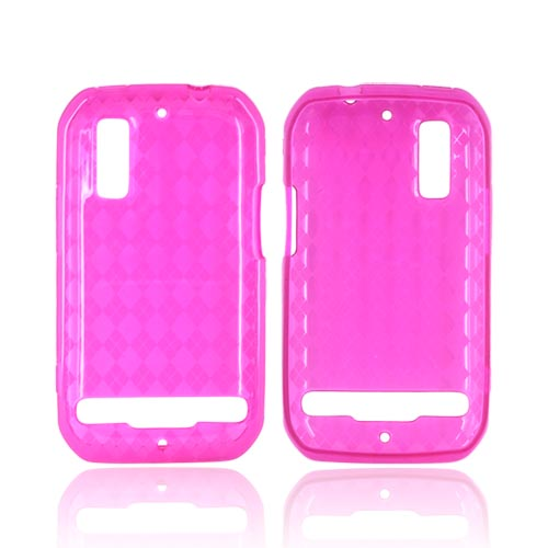 Motorola Photon 4G Crystal Silicone Case - Argyle Hot Pink