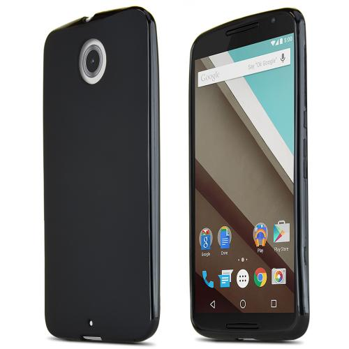 Nexus 6 TPU Case [Black] Featuring Impact Resistant Flexible Crystal Silicone TPU with Protective Bumper