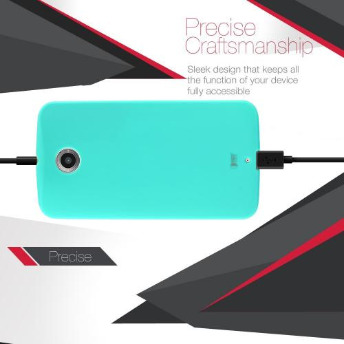 Nexus 6 TPU Case [Mint] Featuring Impact Resistant Flexible Crystal Silicone TPU with Protective Bumper