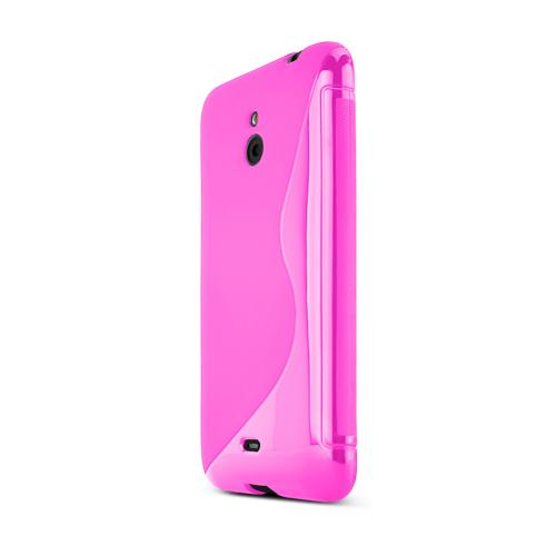 Hot Pink Nokia Lumia 1320 Flexible Crystal Silicone TPU Case - Conforms To Your Phone Without Stretching Out!