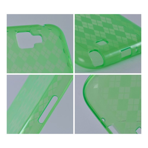 Green Argyle Crystal Silicone Case for Samsung Galaxy Note 2