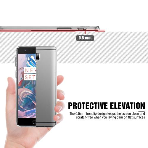 OnePlus 3 Case, REDshield [Clear] Slim & Flexible Anti-shock Crystal Silicone Protective TPU Gel Skin Case Cover