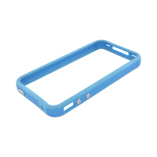 AT&T/Verizon Apple iPhone 4, iPhone 4S Crystal Silicone Bumper - Sky Blue