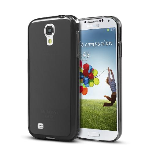 Black  Anti-Slip TPU Crystal Silicone Skin Case & Free Screen Protector for Samsung Galaxy S4 Active