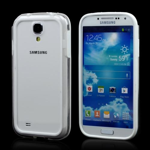 White/ Clear Crystal Silicone Bumper for Samsung Galaxy S4