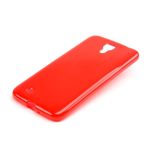 Red Crystal Silicone Skin Case for Samsung Galaxy Mega 6.3