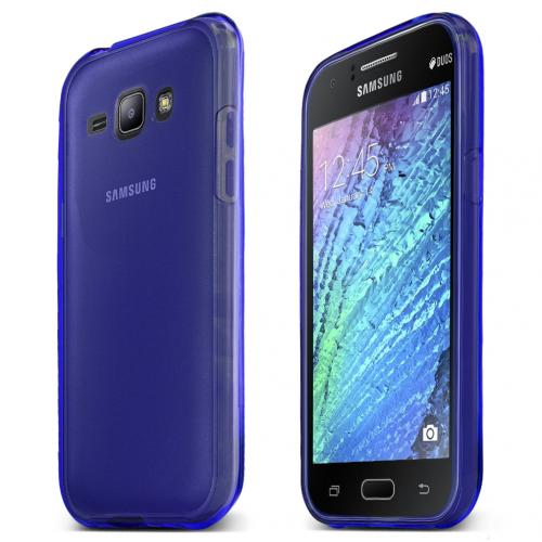 Samsung Galaxy J1 Case, [Blue] Slim & Flexible Crystal Silicone TPU Protective Case