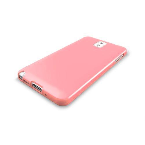 Baby Pink  Anti-Slip TPU Crystal Silicone Skin Case & Free Screen Protector for Samsung Galaxy Note 3