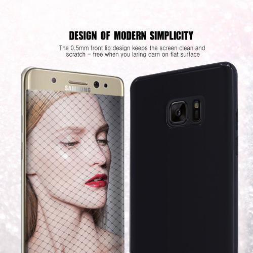 Samsung Galaxy Note 7 Case, REDshield [Blue] Slim & Flexible Anti-shock Crystal Silicone Protective TPU Gel Skin Case Cover